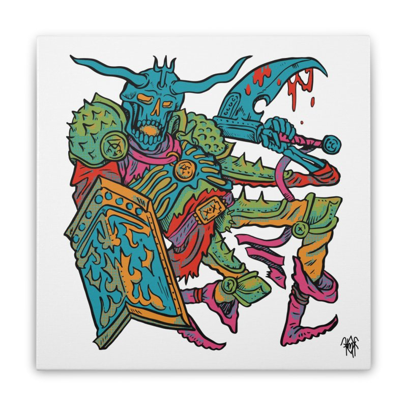 Vorst the Undead Paladin  Home Stretched Canvas by Things You Might Find In A Dungeon