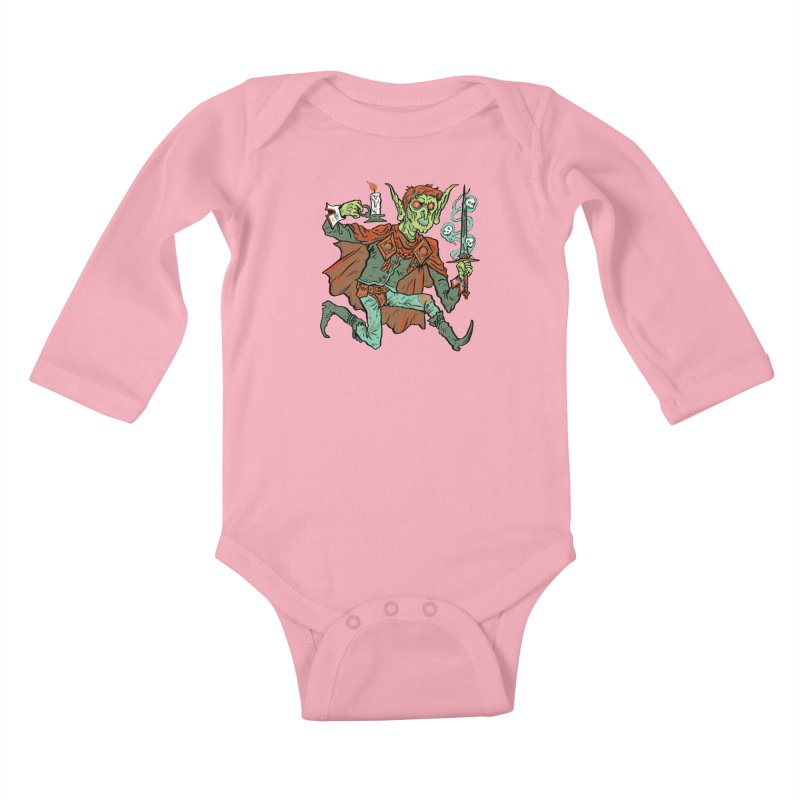 Gluborg Duke of Shadows Kids Baby Longsleeve Bodysuit by Things You Might Find In A Dungeon