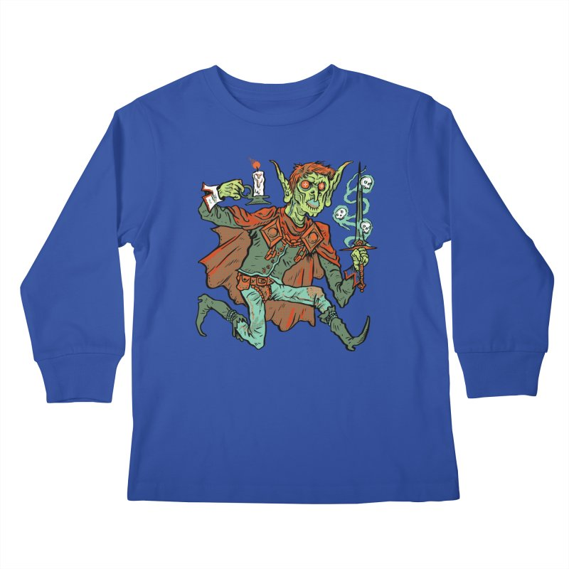 Gluborg Duke of Shadows Kids Longsleeve T-Shirt by Things You Might Find In A Dungeon