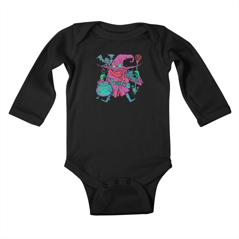 Gaynor the Magician Kids Baby Longsleeve Bodysuit by Things You Might Find In A Dungeon