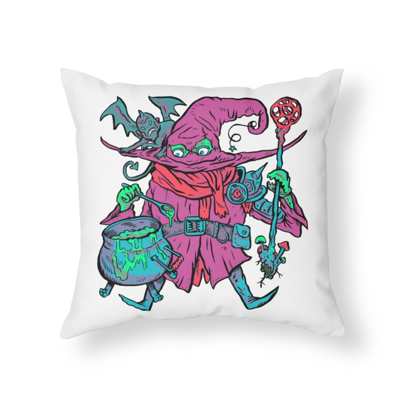 Gaynor the Magician Home Throw Pillow by Things You Might Find In A Dungeon