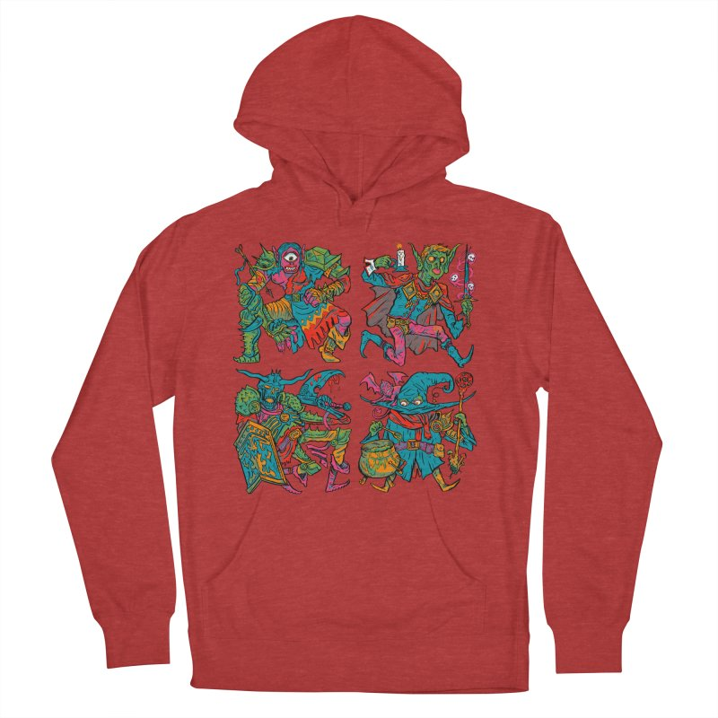 Adventuring Party Women's French Terry Pullover Hoody by Things You Might Find In A Dungeon
