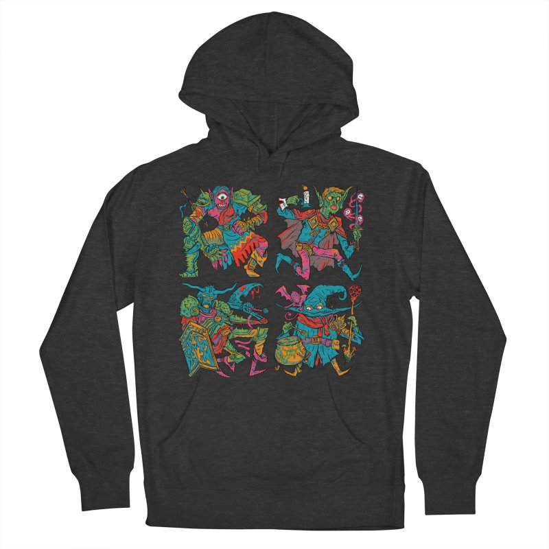 Adventuring Party Men's French Terry Pullover Hoody by Things You Might Find In A Dungeon
