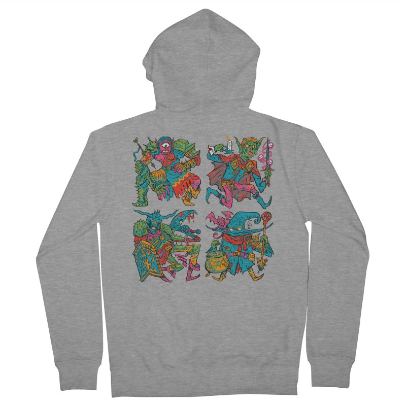 Adventuring Party Women's French Terry Zip-Up Hoody by Things You Might Find In A Dungeon