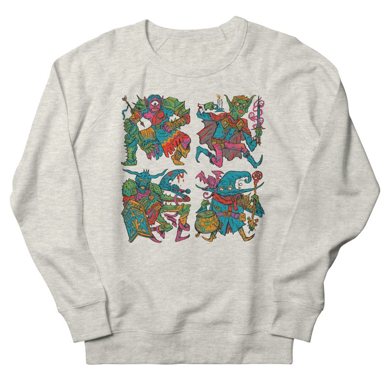 Adventuring Party Women's French Terry Sweatshirt by Things You Might Find In A Dungeon