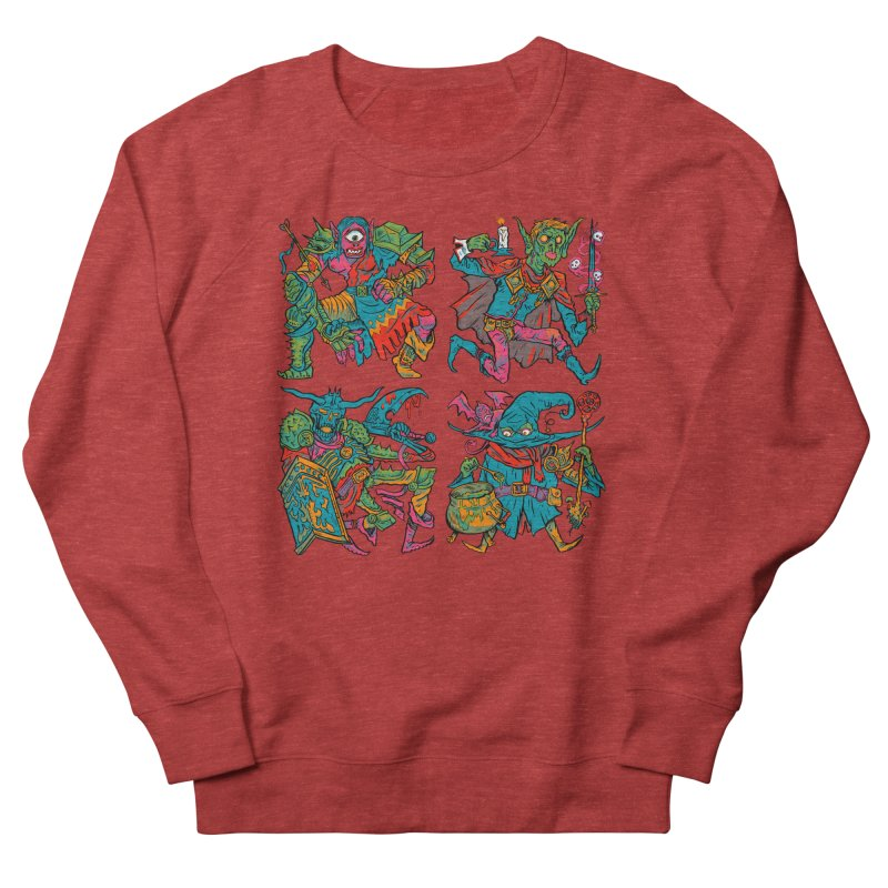 Adventuring Party Men's French Terry Sweatshirt by Things You Might Find In A Dungeon