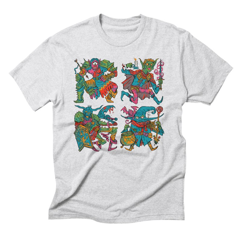 Adventuring Party Men's Triblend T-Shirt by Things You Might Find In A Dungeon