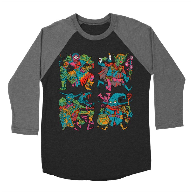 Adventuring Party Men's Baseball Triblend Longsleeve T-Shirt by Things You Might Find In A Dungeon
