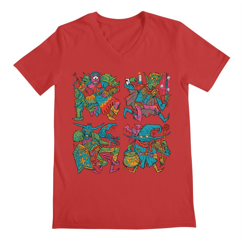 Adventuring Party Men's Regular V-Neck by Things You Might Find In A Dungeon