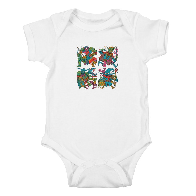 Adventuring Party Kids Baby Bodysuit by Things You Might Find In A Dungeon