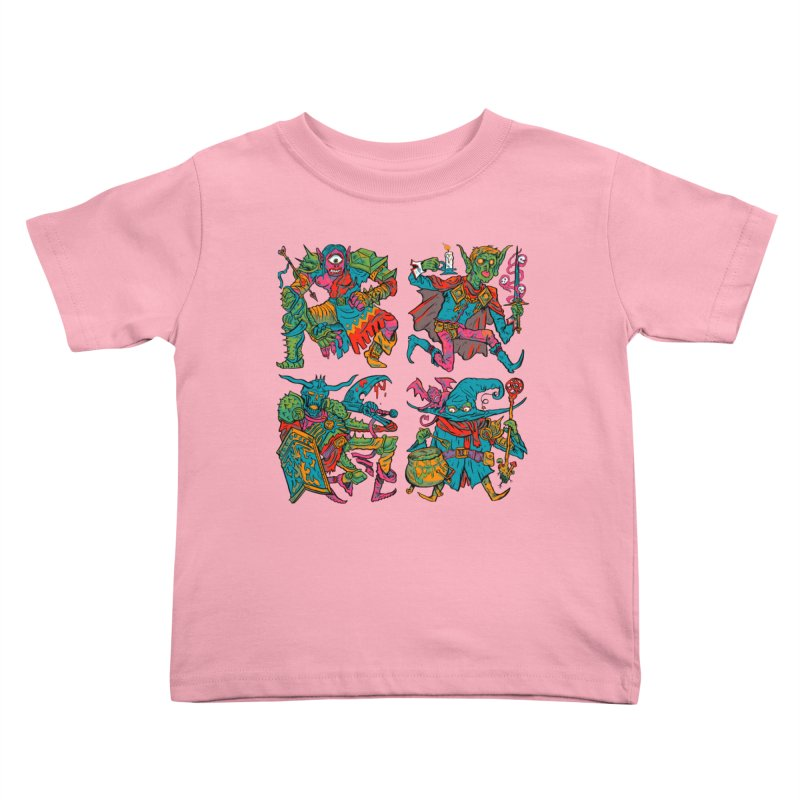 Adventuring Party Kids Toddler T-Shirt by Things You Might Find In A Dungeon