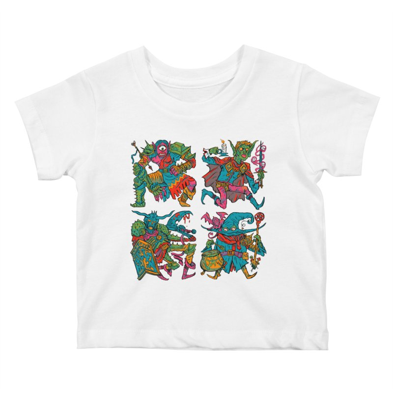 Adventuring Party Kids Baby T-Shirt by Things You Might Find In A Dungeon
