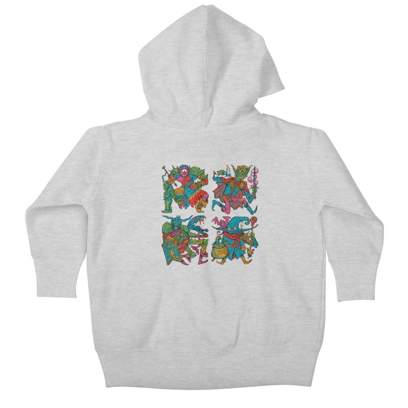 Adventuring Party Kids Baby Zip-Up Hoody by Things You Might Find In A Dungeon