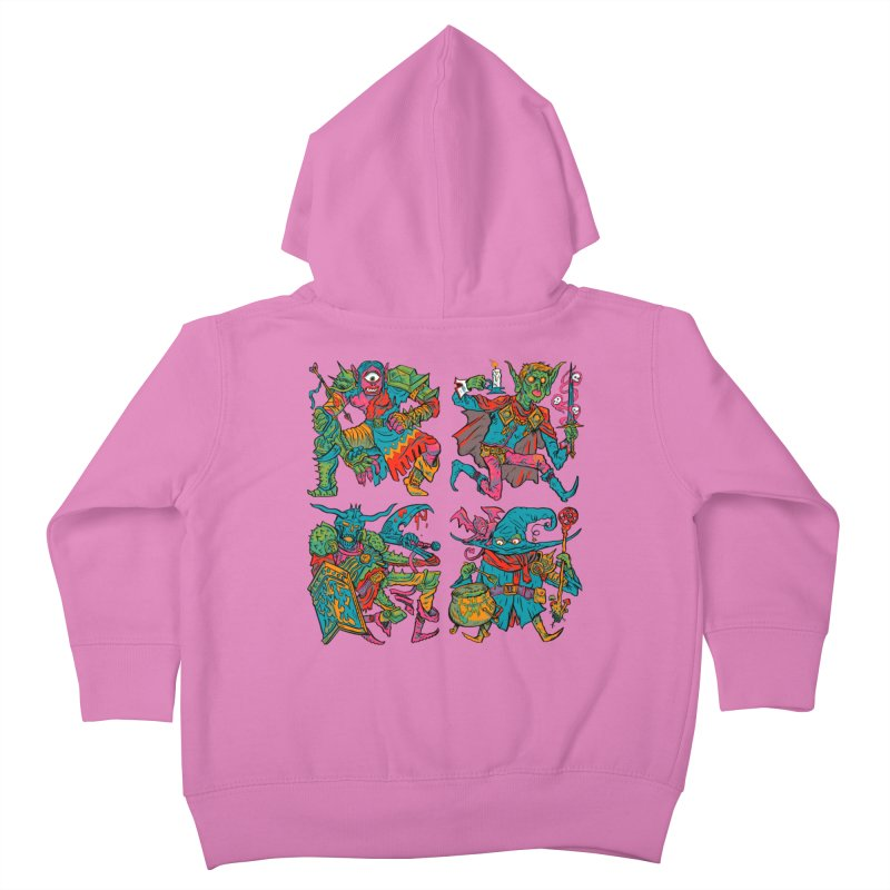 Adventuring Party Kids Toddler Zip-Up Hoody by Things You Might Find In A Dungeon