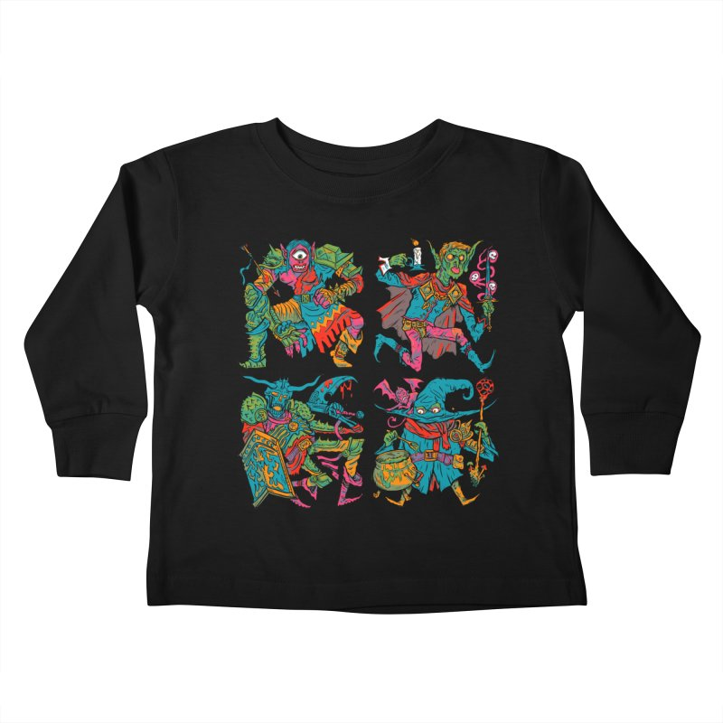 Adventuring Party Kids Toddler Longsleeve T-Shirt by Things You Might Find In A Dungeon