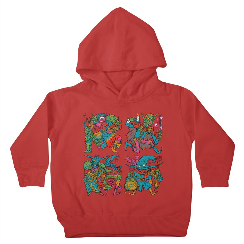 Adventuring Party Kids Toddler Pullover Hoody by Things You Might Find In A Dungeon
