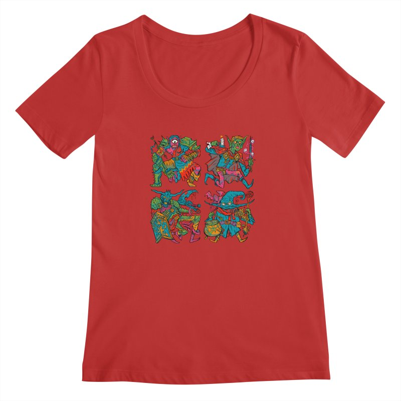 Adventuring Party Women's Regular Scoop Neck by Things You Might Find In A Dungeon