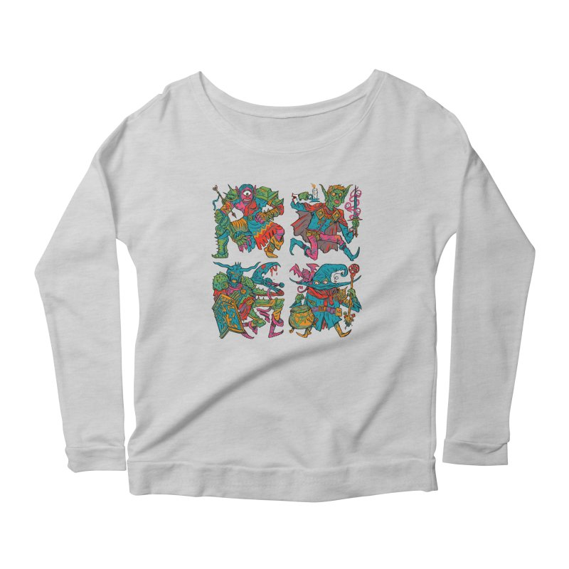 Adventuring Party Women's Scoop Neck Longsleeve T-Shirt by Things You Might Find In A Dungeon