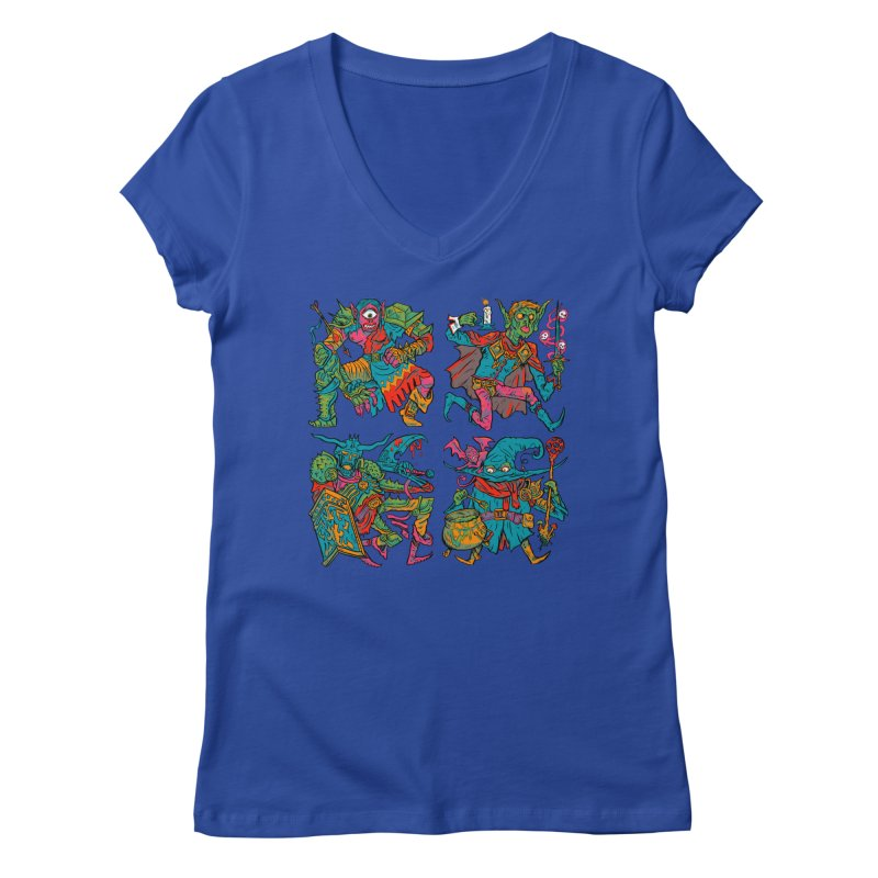 Adventuring Party Women's Regular V-Neck by Things You Might Find In A Dungeon