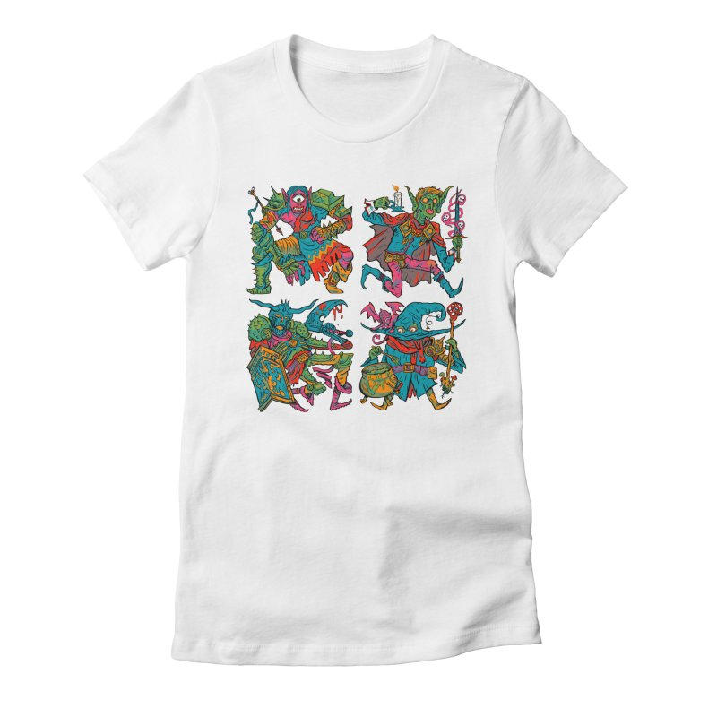 Adventuring Party Women's Fitted T-Shirt by Things You Might Find In A Dungeon