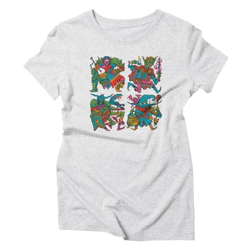 Adventuring Party Women's Triblend T-Shirt by Things You Might Find In A Dungeon