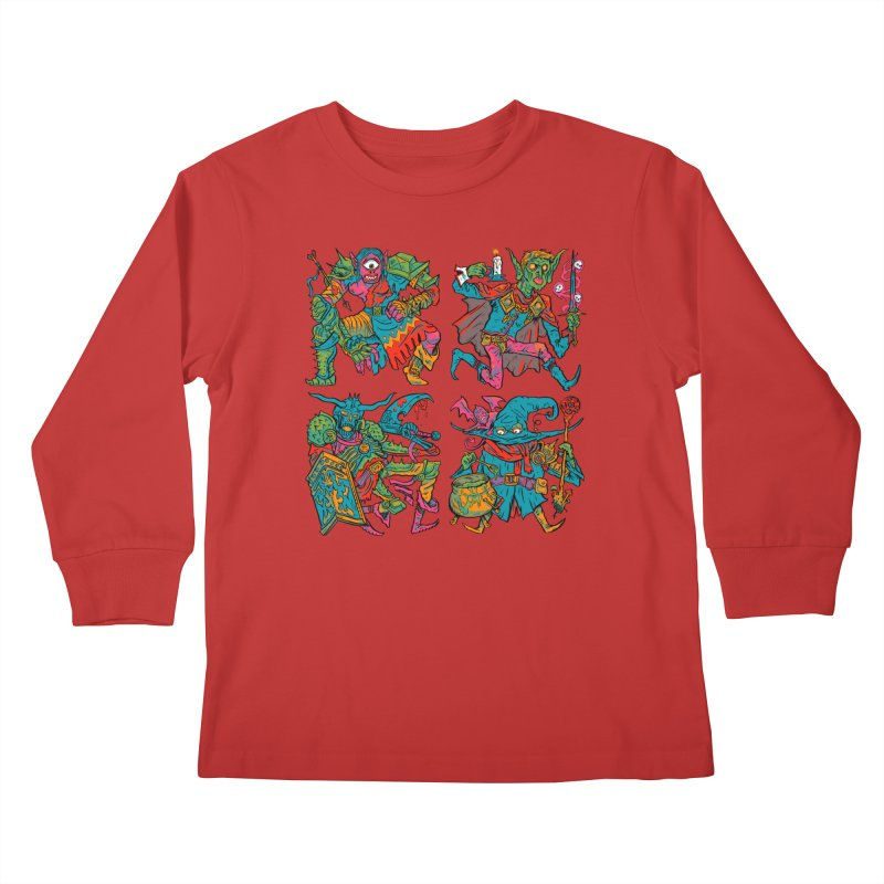 Adventuring Party Kids Longsleeve T-Shirt by Things You Might Find In A Dungeon