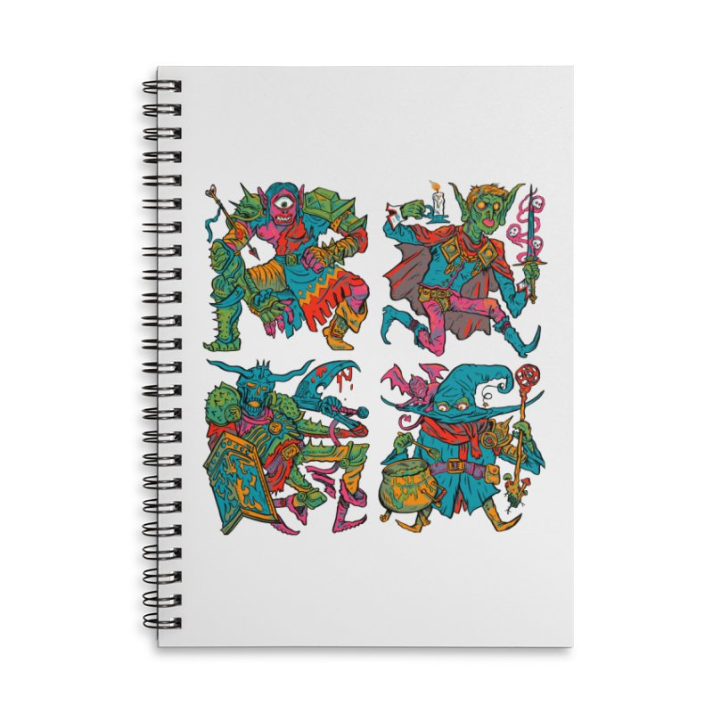 Adventuring Party Accessories Lined Spiral Notebook by Things You Might Find In A Dungeon