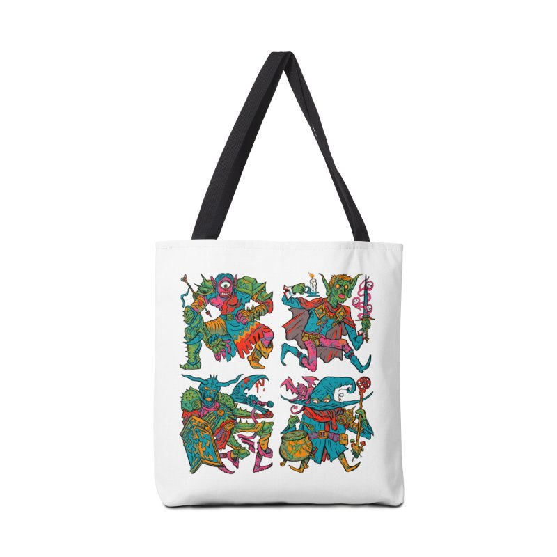 Adventuring Party Accessories Tote Bag Bag by Things You Might Find In A Dungeon