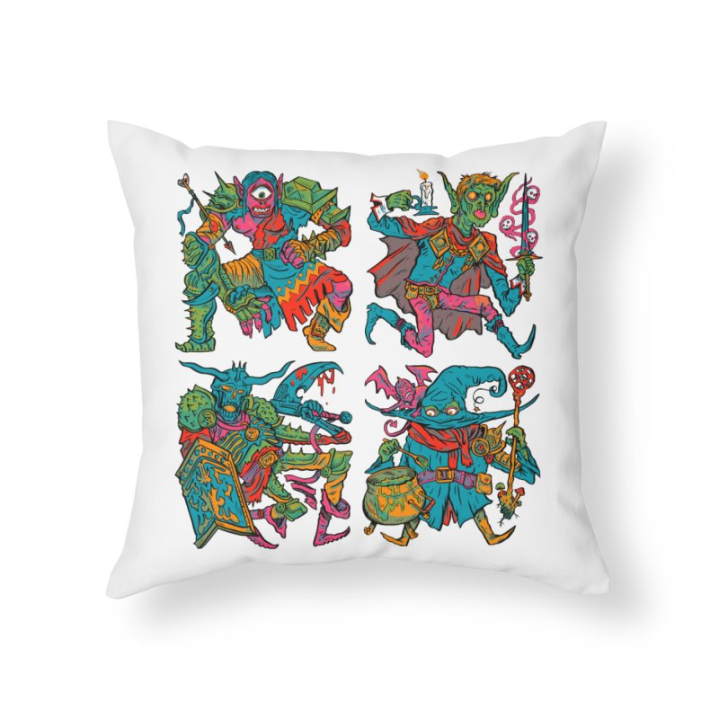Adventuring Party Home Throw Pillow by Things You Might Find In A Dungeon