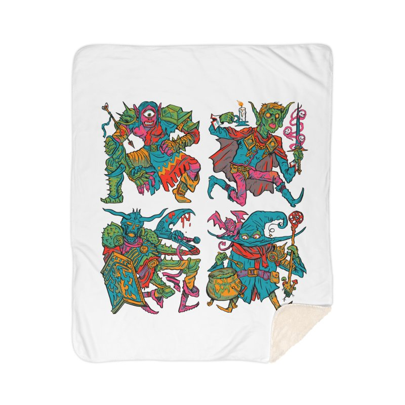 Adventuring Party Home Sherpa Blanket Blanket by Things You Might Find In A Dungeon