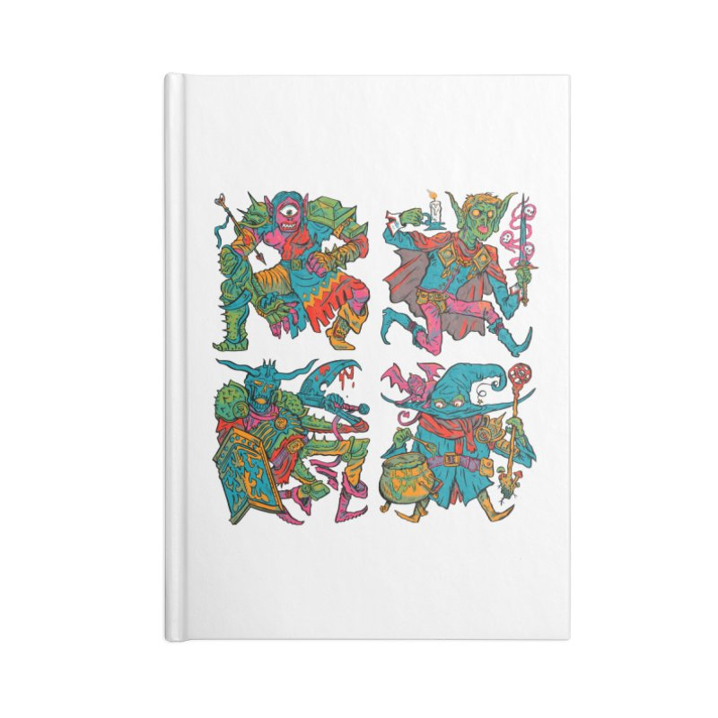 Adventuring Party Accessories Lined Journal Notebook by Things You Might Find In A Dungeon
