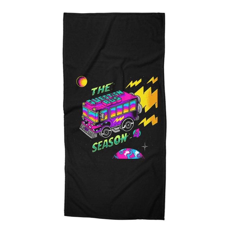 The Question Bus: Season 4 Logo Accessories Beach Towel by Keir Miron's Artist Shop