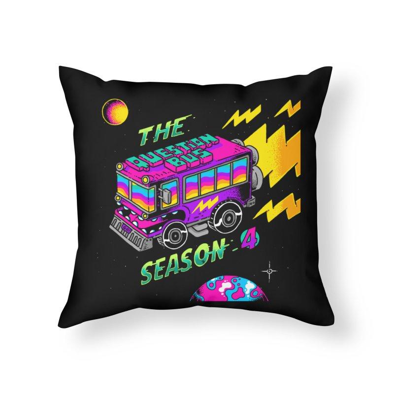 The Question Bus: Season 4 Logo Home Throw Pillow by Keir Miron's Artist Shop