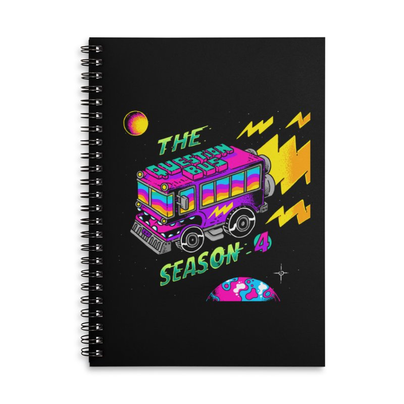 The Question Bus: Season 4 Logo Accessories Lined Spiral Notebook by Keir Miron's Artist Shop