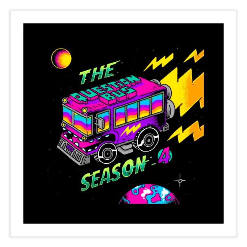 The Question Bus: Season 4 Logo Home Fine Art Print by Keir Miron's Artist Shop