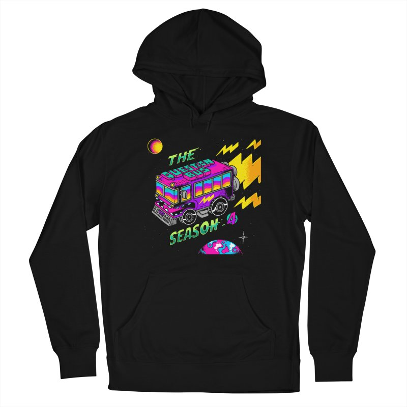 The Question Bus: Season 4 Logo in Men's French Terry Pullover Hoody Black by Keir Miron's Artist Shop