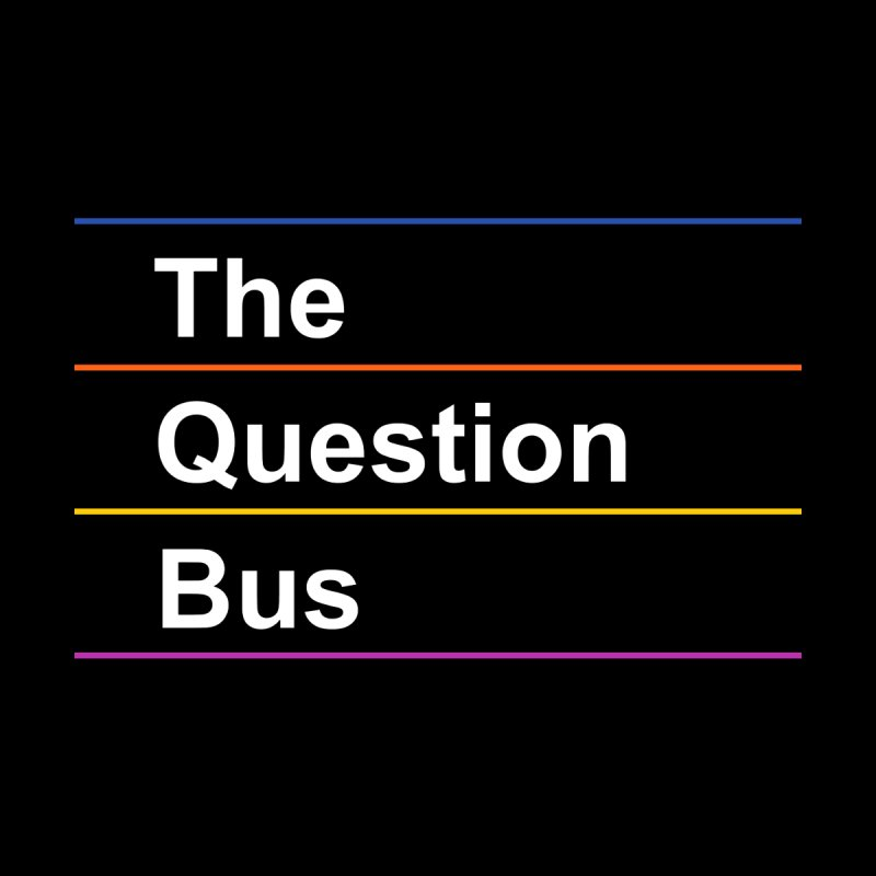 The Question Bus: Logo Accessories Zip Pouch by Keir Miron's Artist Shop