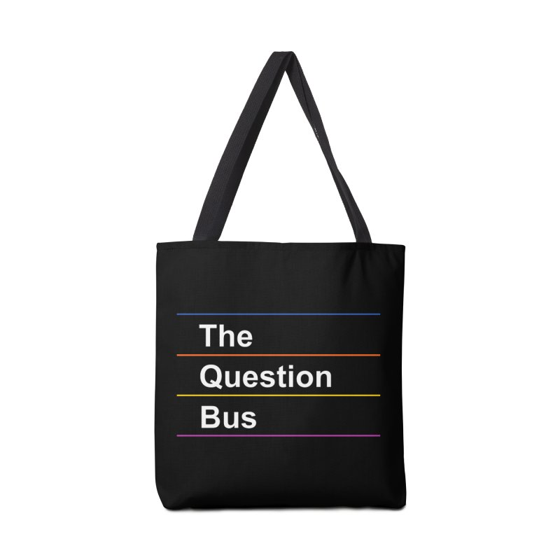 The Question Bus: Logo Accessories Tote Bag Bag by Keir Miron's Artist Shop