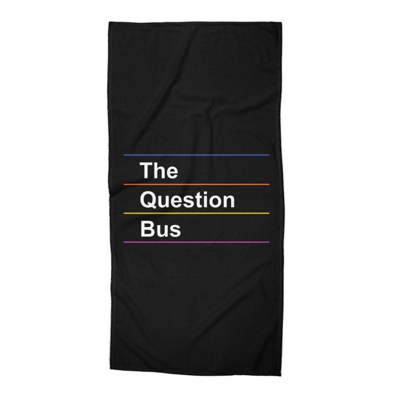 The Question Bus: Logo Accessories Beach Towel by Keir Miron's Artist Shop