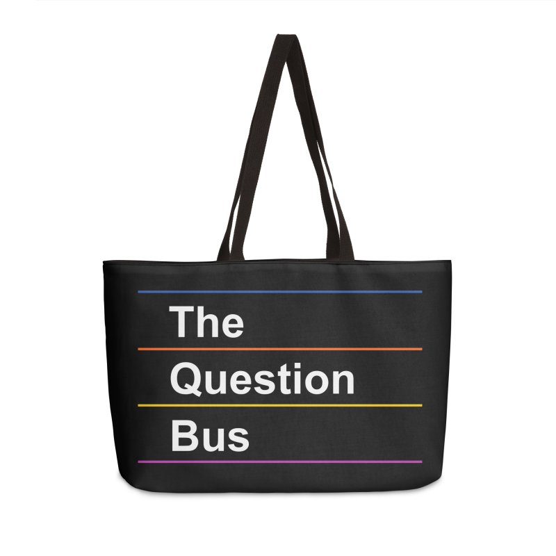 The Question Bus: Logo Accessories Weekender Bag Bag by Keir Miron's Artist Shop