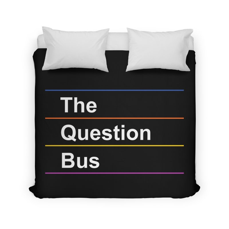 The Question Bus: Logo Home Duvet by Keir Miron's Artist Shop