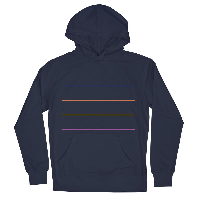The Question Bus: No Text Logo in Men's French Terry Pullover Hoody Navy by Keir Miron's Artist Shop