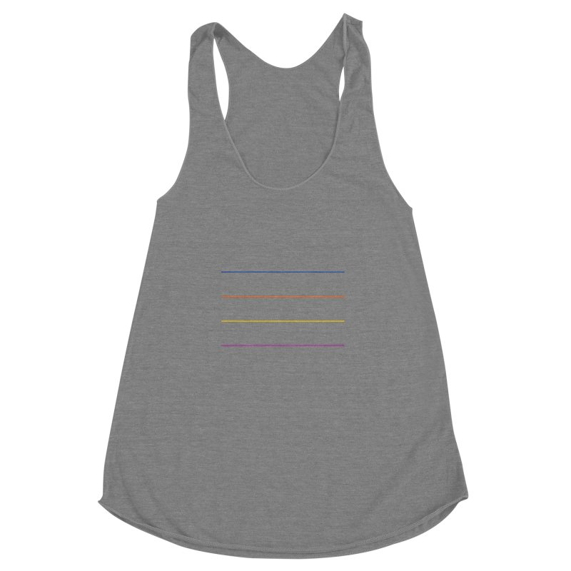 The Question Bus: No Text Logo Women's Racerback Triblend Tank by Keir Miron's Artist Shop