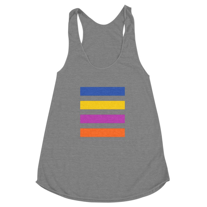 The Question Bus: No Text Logo Thick Women's Racerback Triblend Tank by Keir Miron's Artist Shop
