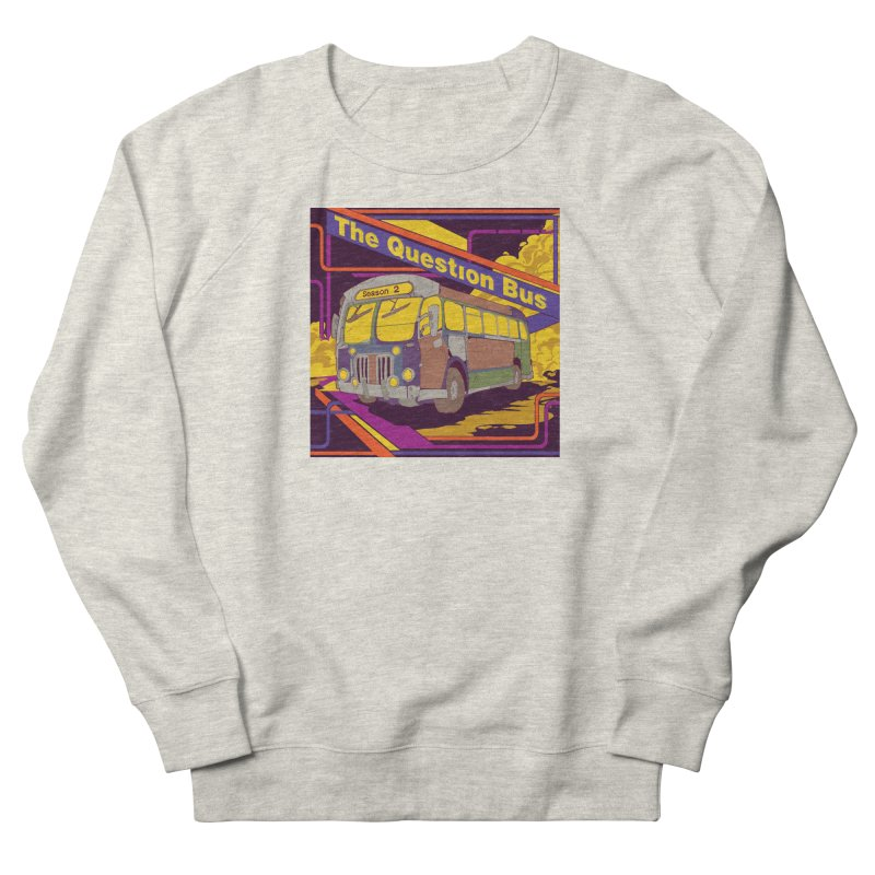 The Question Bus Season 2: Logo in Men's French Terry Sweatshirt Heather Oatmeal by Keir Miron's Artist Shop