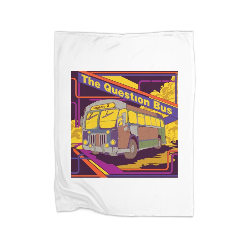 The Question Bus Season 2: Logo Home Fleece Blanket Blanket by Keir Miron's Artist Shop