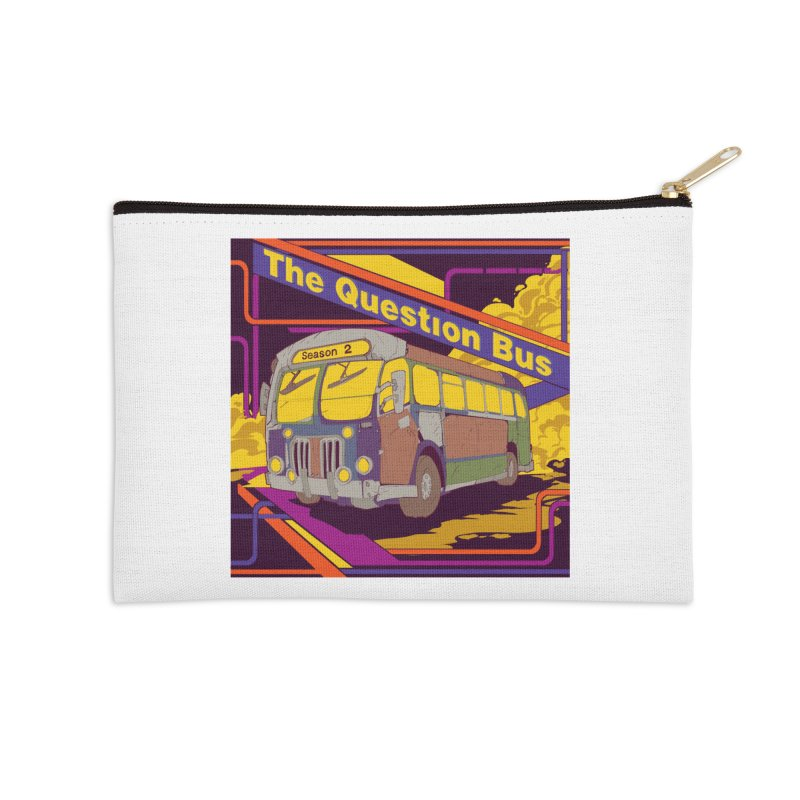 The Question Bus Season 2: Logo Accessories Zip Pouch by Keir Miron's Artist Shop