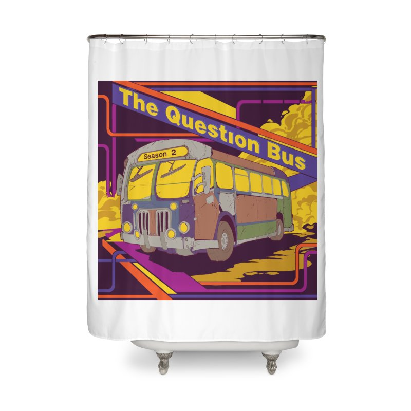 The Question Bus Season 2: Logo Home Shower Curtain by Keir Miron's Artist Shop