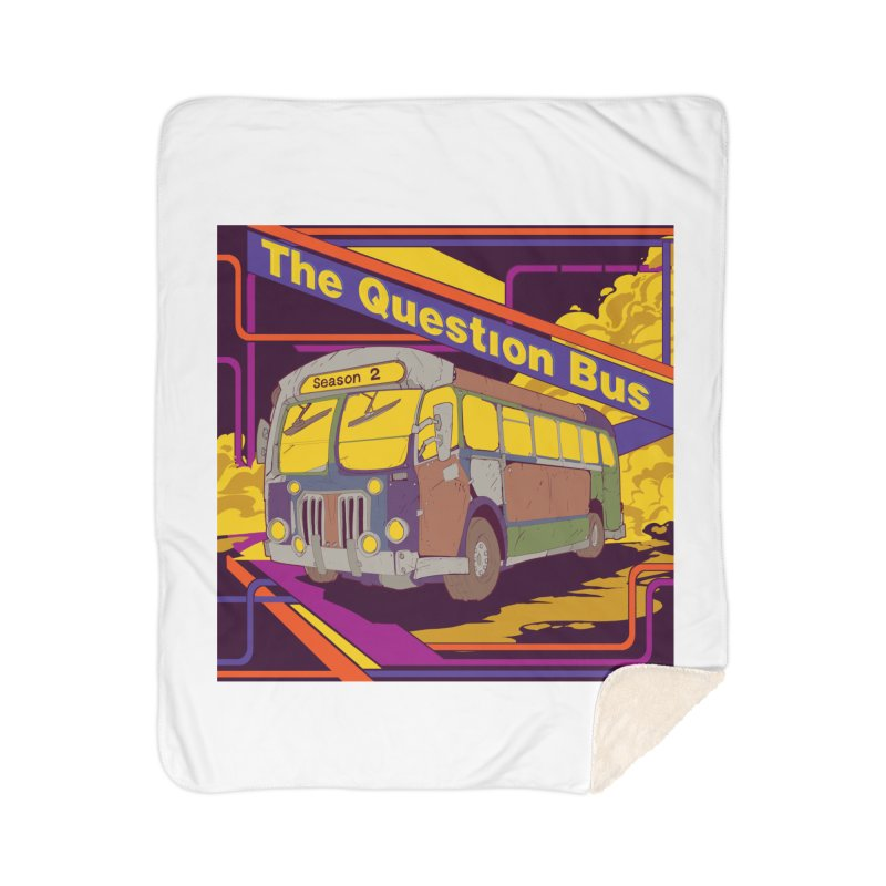 The Question Bus Season 2: Logo Home Sherpa Blanket Blanket by Keir Miron's Artist Shop