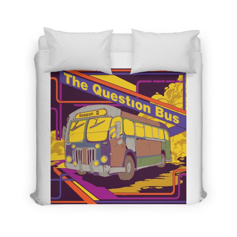 The Question Bus Season 2: Logo Home Duvet by Keir Miron's Artist Shop